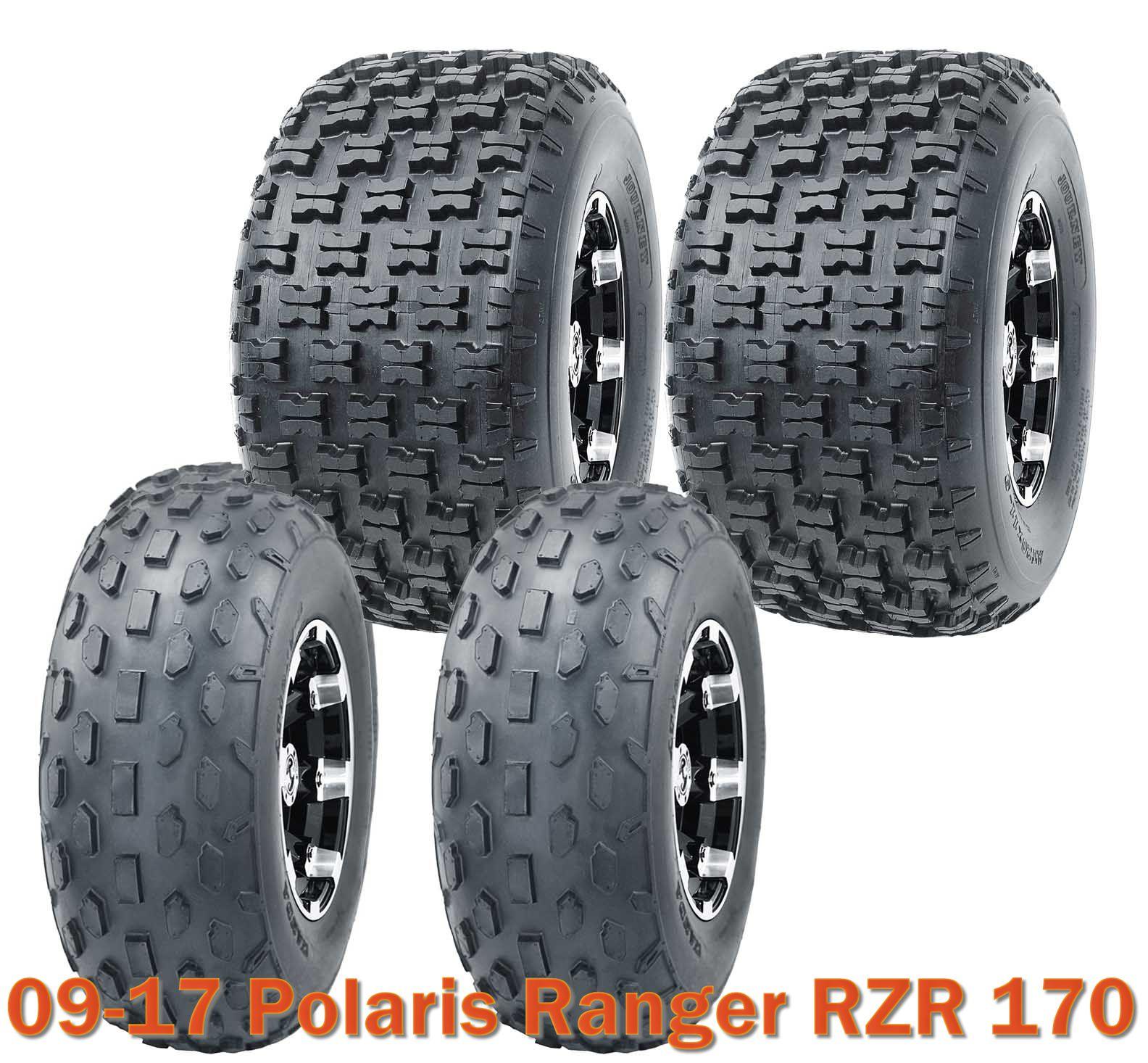Full Set WANDA ATV tires 19x7-8 19x7x8 /& 20x10-9 20x10x9 Polaris Ranger RZR170