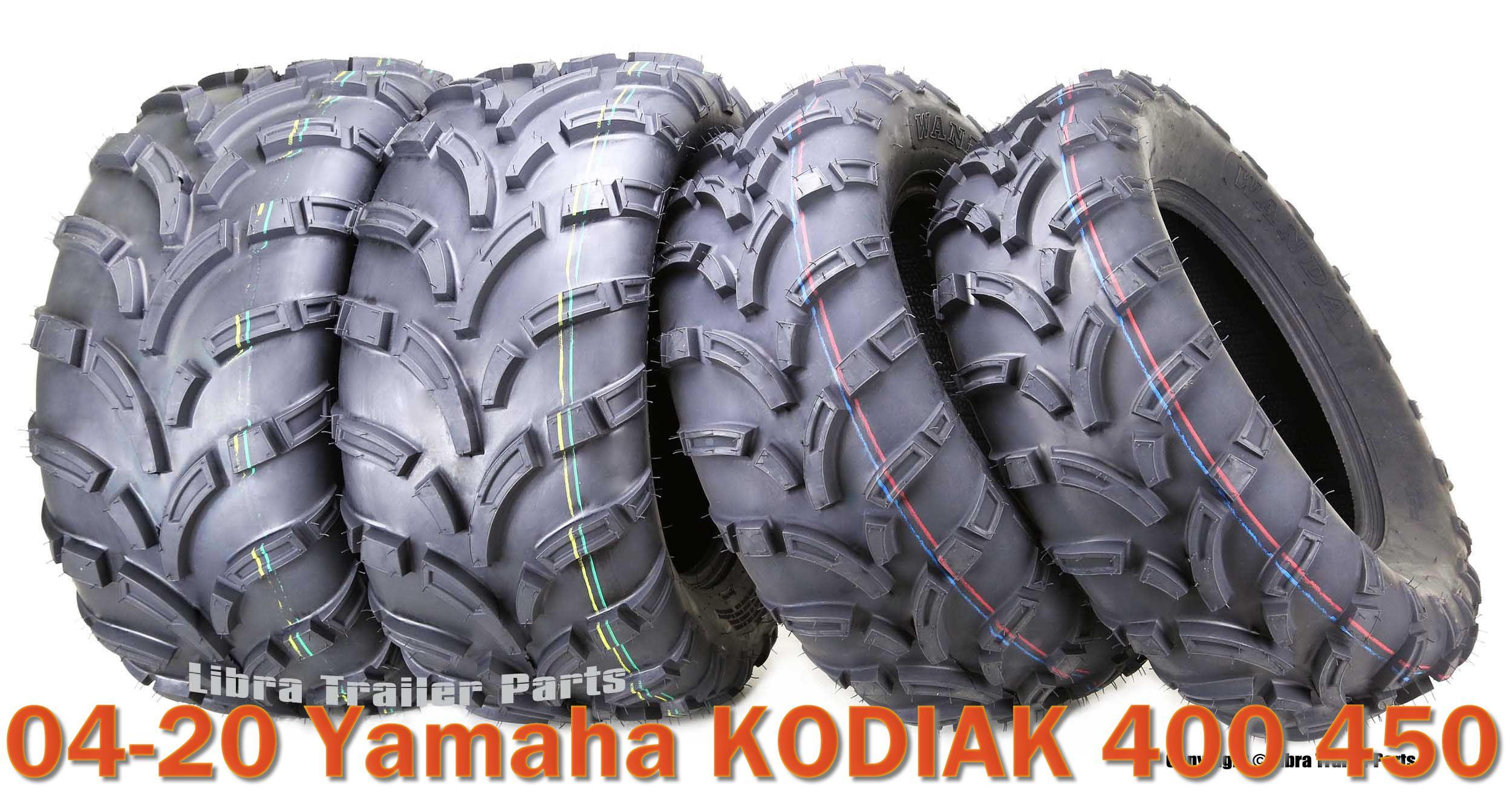 Set of 4 WANDA ATV//UTV Tires 25X8-12 25X10-12 for 1993-2006 YAMAHA KODIAK 450