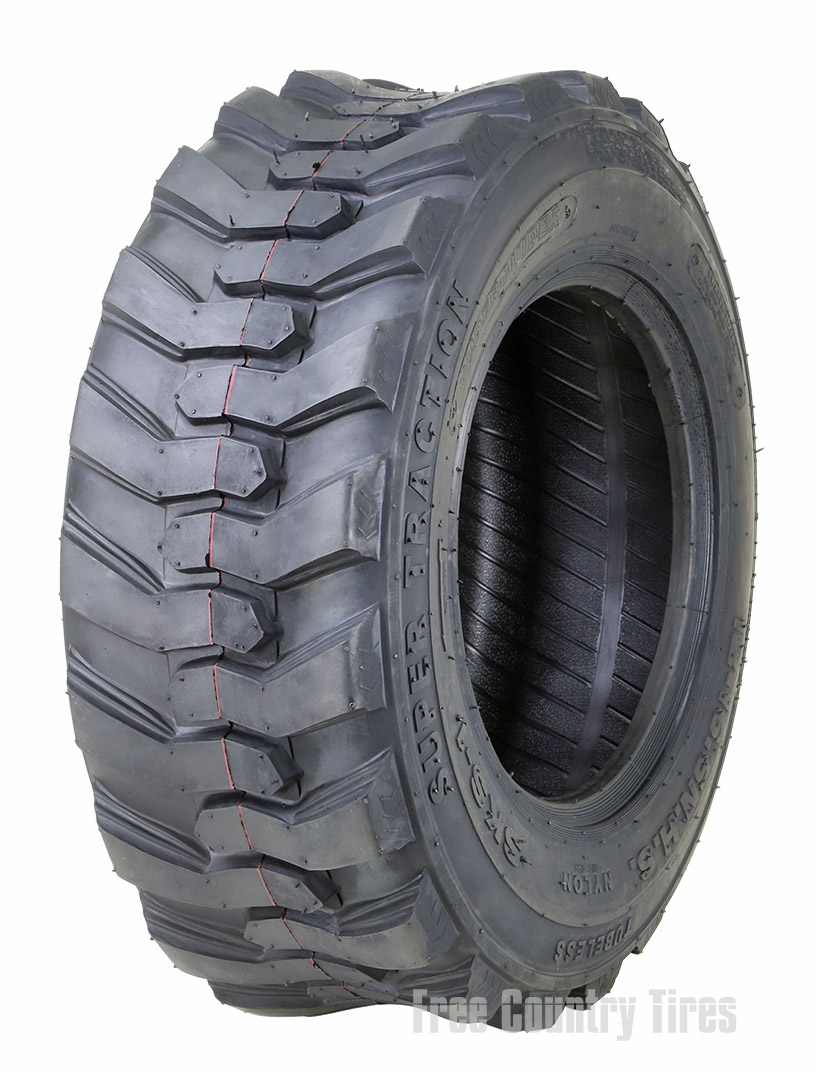 One New Super Guider Heavy Duty 10-16.5//10PR SKS-1 Skid Steer Tire for Bobcat w//Rim Guard